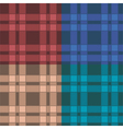 set seamless patterns with plaid vector image