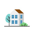 small white house isolated icon vector image