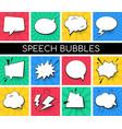 speech bubbles collection - set comic retro vector image