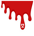 spot blood vector image vector image