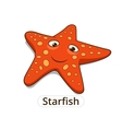 Starfish sea fish cartoon vector image