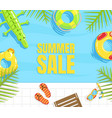 summer sale banner template poster or web page vector image vector image