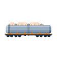 tank wagon oil railway cistern freight train vector image vector image