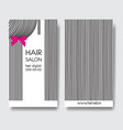 template design business card with hair vector image vector image