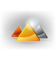 Three triangles vector | Price: 1 Credit (USD $1)
