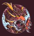 tiger warrior mascot logo design vector image