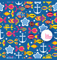 underwater world fish seamless pattern vector image