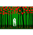 Valentine Forest vector image vector image