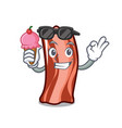 with ice cream ribs character cartoon style vector image
