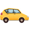 yellow transport without driver hatchback vector image
