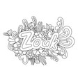 zouk zen tangle doodle flowers and text for dance vector image vector image