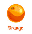 cartoon logo orange vector image