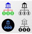 bank hierarchy eps icon with contour vector image vector image