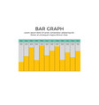 bar graph infographic element vector image vector image
