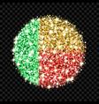 benin flag sparkling badge vector image vector image