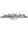 berlin germany skyline with gray buildings vector image vector image