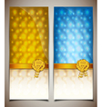 Blue and yellow gift card vector image vector image
