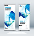 blue business roll up banner abstract roll up vector image vector image