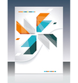 brochure template design with abstract elements vector image vector image
