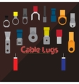 Cable Lugs vector image vector image