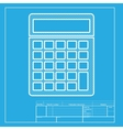 Calculator simple sign White section of icon on vector image vector image