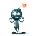 cartoon funny cute characters bomb vector image