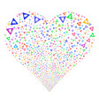 Caution fireworks heart vector image