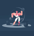 circus athlete strongman vector image