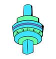 cn tower in toronto icon cartoon vector image