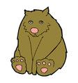comic cartoon sad bear vector image vector image
