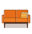 couch icon in flat design retro style vector image