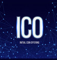 creative of ico initial coin vector image vector image