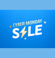 cyber monday sale banner season offer concept vector image