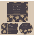 dark wedding invitations with floral background vector image vector image