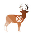 deer silhouette with target icon vector image