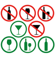 Dont drink vector image vector image