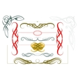Elegant borders and frames vector image vector image
