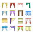 fabric textiles interior and other curtains vector image