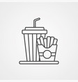 fast food icon sign symbol vector image vector image