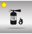 fire extinguisher black icon button logo symbol vector image vector image
