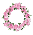 Floral pink wreath vector image
