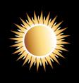 Gold Sun Logo vector image vector image