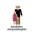 grandfather and granddaughter icon can be used vector image