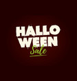 halloween sale text logo vector image