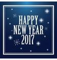 happy new year 2017 greeting card snowflakes stars vector image vector image