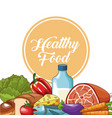 healthy food concept vector image vector image
