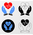 heart surgery care hands eps icon with vector image