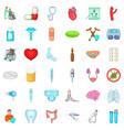 hospital clinic icons set cartoon style vector image vector image