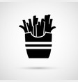 icon appetizing tasty french fries vector image
