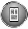 icon symbol ipad vector image vector image